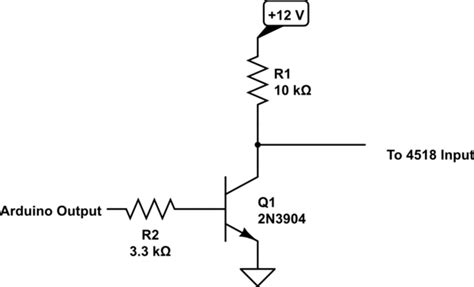 pull up resistor transistor circuit analog 4518 and arduino electrical engineering stack exchange