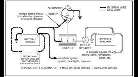 wiring diagram battery isolator dual marine guest 9523a