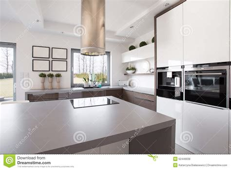 bright interiors that show off the beauty of nordic bright kitchen royalty free stock photography