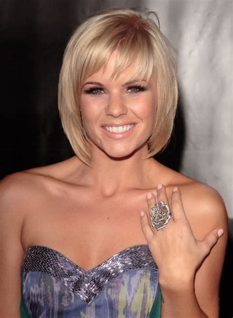 face framing bob short stacked in the back short hairstyles with bangs