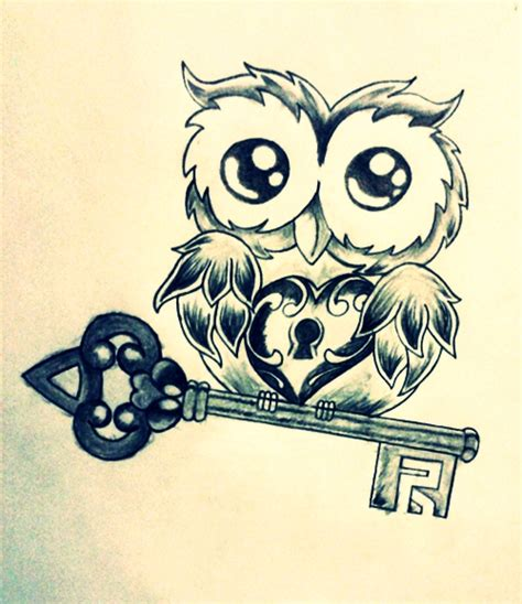 easy key tattoo owl heart key by lazymexicano on deviantart