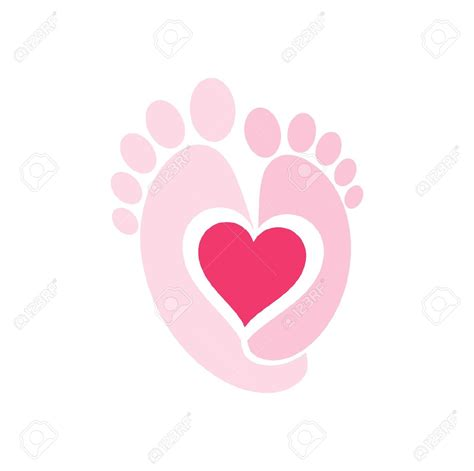 feet clipart baby foot heart pencil and in color feet