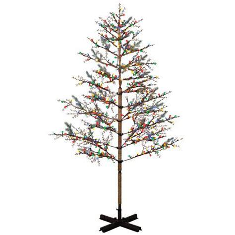 ge 8 lighted winterberry 174 tree christmas winter