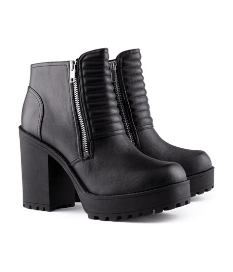 h and m boots h m canvas platform boots in black lyst