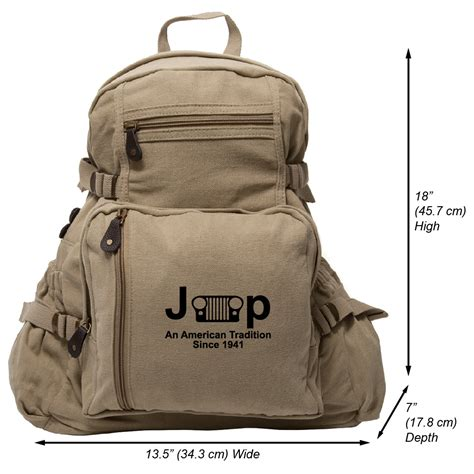 Jeep Backpack Bag Jeep An American Tradition Since 1941 Army Sport