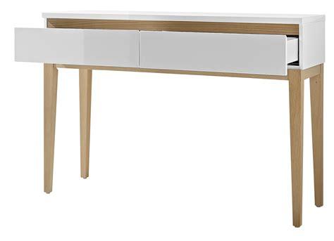 console rectangulaire design 2 tiroirs blanc laqu 233 ch 234 ne