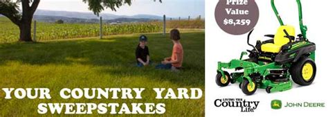Yard Sweepstakes - country life your country yard sweepstakes 2016 sweepstakesdaily com