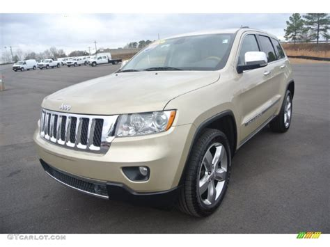 gold jeep white gold metallic 2011 jeep grand cherokee overland 4x4