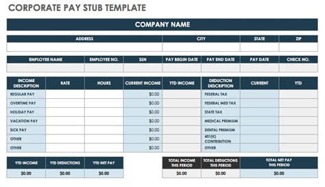 Free Pay Stub Templates Smartsheet How To Create A Pay Stub Template