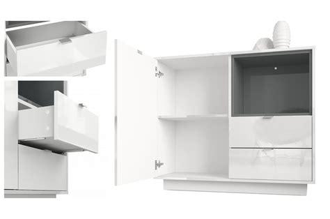 Commode Blanc Brillant by Meuble Commode Design Blanc Brillant Novomeuble