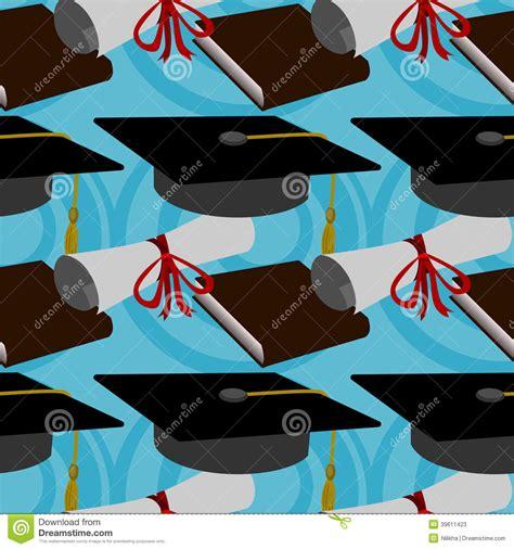 background design graduation graduation seamless background design stock illustration
