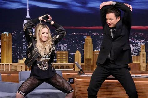 Madonna I Underpants Tonight On The Late Show With David Letterman Mound by Madonna Rocked At Jimmy Felon Last At Late Show