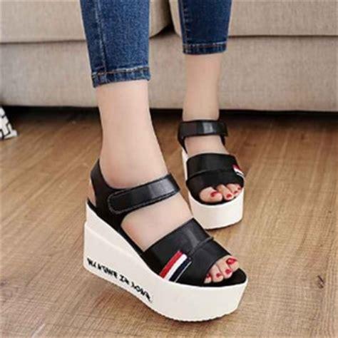 Sendal Sepatu Remaja sepatu sandal wedges unik modern model terbaru masa kini