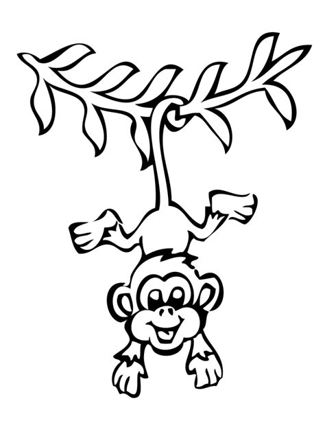 Outline Of A Monkey by Monkey Outline Clipartion