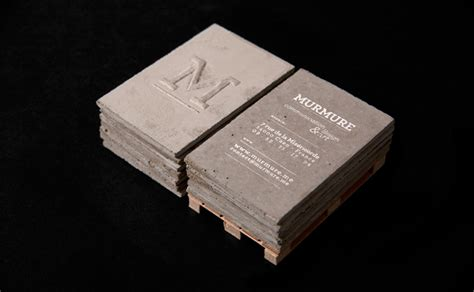 concrete business cards by murmure 187 retail design blog