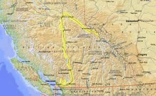 fraser river on map of canada fraser river