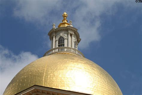 Golden House Ma by Golden Neoclassical Dome Of Massachusetts State House