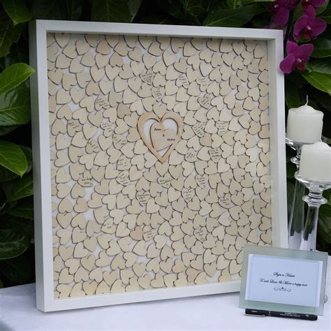 Wedding Drop Box Frame by Wedding Guest Book Personalized Guest Book For Signature