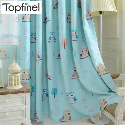 blackout curtains kids room aliexpress com buy top finel cartoon bird pattern