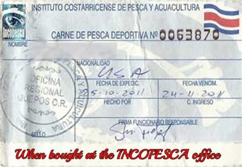 fishing licenses costa rica fishing regulations - Fishing Boat License