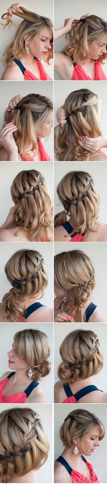 diy hairstyles waterfall braid 13 interesting tutorials for everyday hairstyles pretty