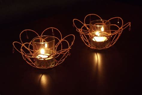 Decorative Candle Holders by Crafted Wire Wrapped Decorative Votive Candle Holders