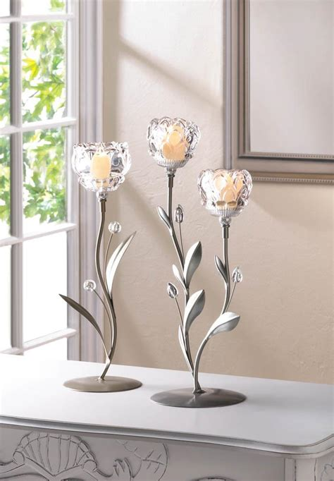 crystal home decor wholesale crystal flower duo candle holder wholesale at koehler home