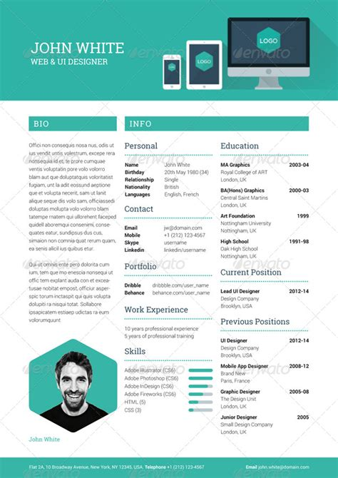 Resume Creative by Creative Resume Cv By Ikonome Graphicriver