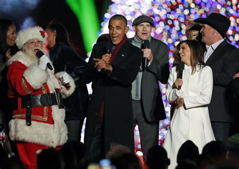 obama lights national tree for time the