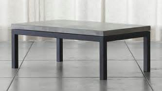 concrete top coffee table parsons small rectangular steel coffee table with