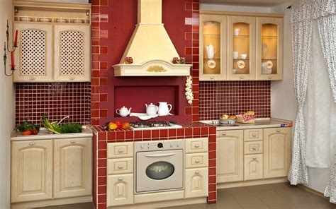 Kitchen Cupboard Designs by Modern Kitchen Designs In Red Interior Decorating Home