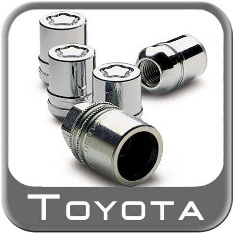 Toyota Wheel Locks 2002 2014 Toyota Highlander Wheel Locks Chrome Finish Mag
