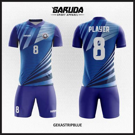 desain baju futsal biru desain baju futsal printing terbaru gekastripblue
