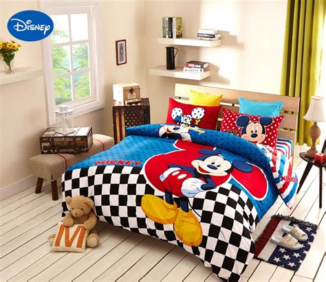 Bedroom Licious Mickey Mouse Print Bedding Set Mickey Mouse Bedding 100 Cotton Disney Print Bed