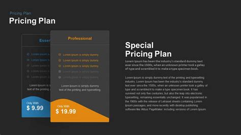 4 pricing plans powerpoint template with recommandation four pricing plan powerpoint and keynote template
