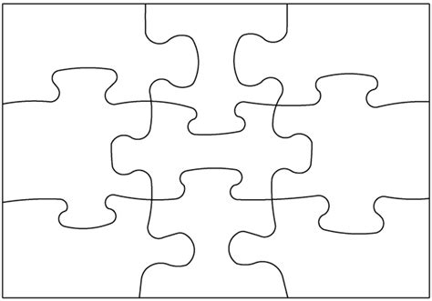 Puzzle Template 9 Pieces by Two Sided Blank Post Card Puzzle 9 Pieces 5 Pack