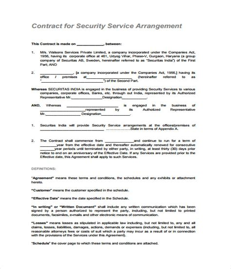 Plumbing Contractor Agreement Plumbing Contractor Alarm Installation Contract Template
