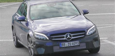 mercedes c class headlights spy video 2018 mercedes benz c class headlights look like