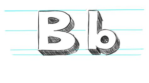Drawing B C by How To Draw 3d Letters B Uppercase B And Lowercase B In