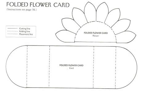 folded flower card template 1 of 2 pins flower card template from jeannie