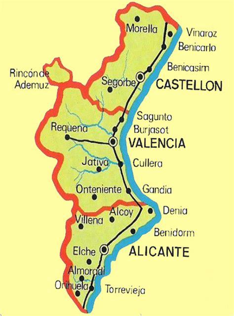 valencia y comunidad valenciana 8497760484 mapa comunidad valenciana espana pictures to pin on pinsdaddy