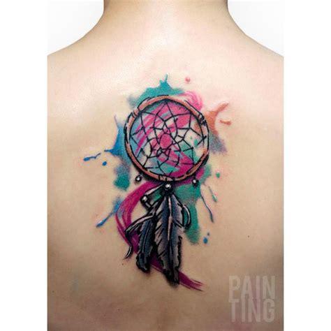 watercolor tattoo ek i tatouage dreamcatcher watercolor