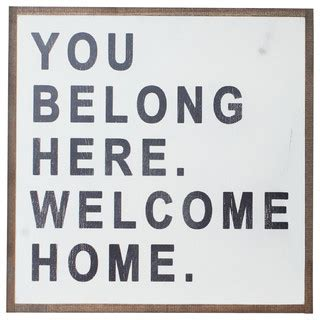 you belong here 1938298993 shop houzz between you and me designs quot you belong here quot sign novelty signs