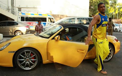 Ms Auto by Yellow Car Photos Of Mahendra Singh Dhoni