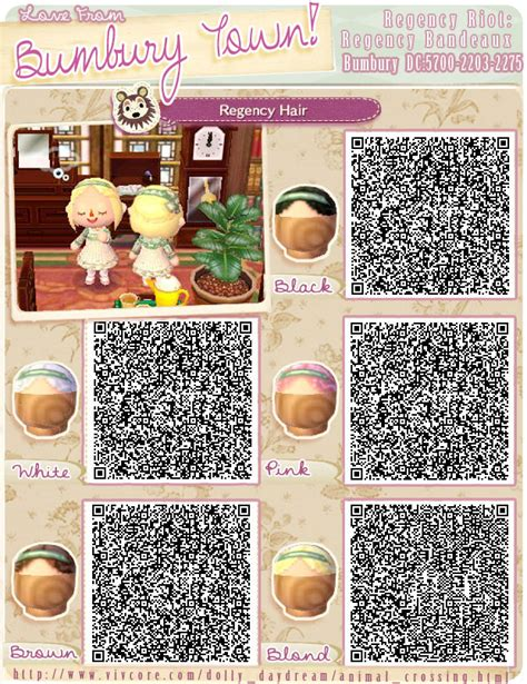 animal crossing new leaf qr codes hair hats acnl qr code hair animal crossing qr codes hair