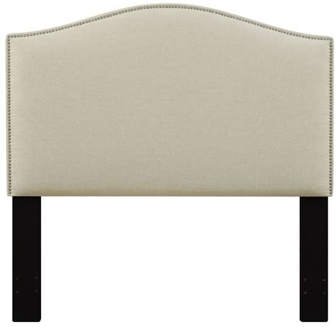 upholstered headboard nailhead beige nailhead upholstered headboard from