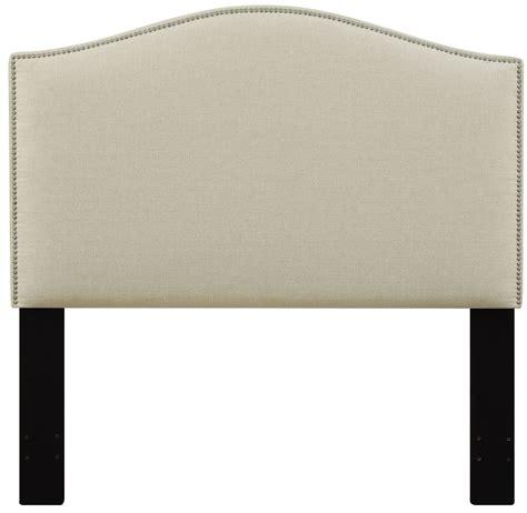 nailhead upholstered headboard beige nailhead upholstered headboard from