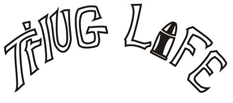 tattoo png text thug life png free large images