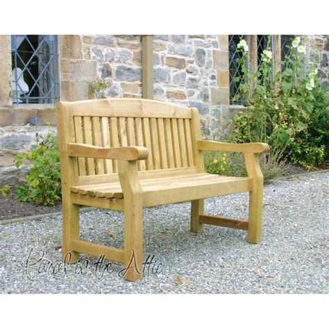 solid wood outdoor bench 3 seater heavy duty garden bench