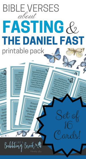 verses on fasting daniel fast scripture cards set of 16 printable cards